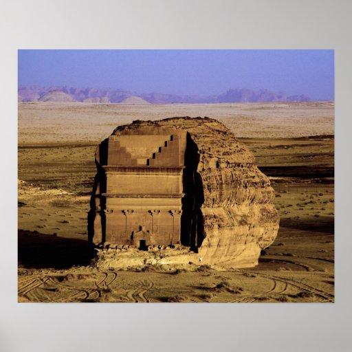 Saudi Arabia, site of Madain Saleh, ancient Print