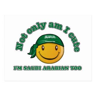 Saudi Arabia smiley flag designs Postcard