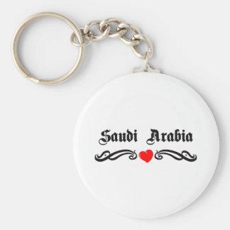 Saudi Arabia Tattoo Style Keychain
