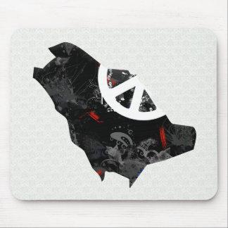 Saudi Arabia Trendy Peace Sign with Saudi map Mouse Pad
