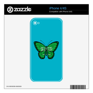Saudi Arabian Butterfly Flag Decal For iPhone 4