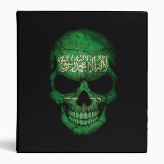 Saudi Arabian Flag Skull on Black Binders