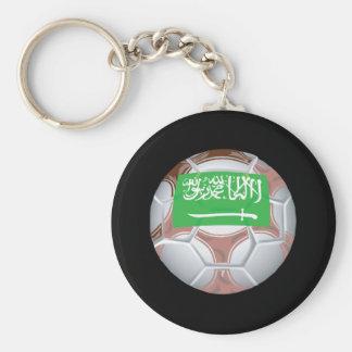Saudi Arabian Soccer Ball Keychain