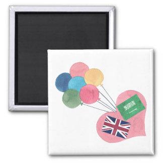 saudi-british square magnet