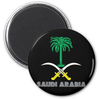 Saudi Emblem 2 Inch Round Magnet