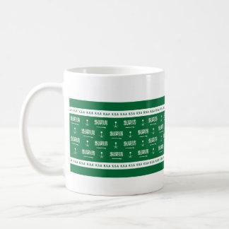 saudi emblem flag mug / cup
