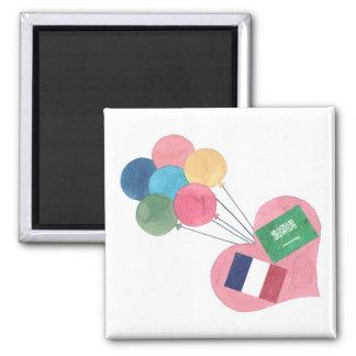 saudi-french square magnet
