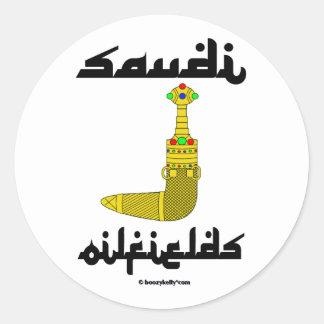 Saudi Gold Dagger Oilfield Sticker