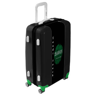 Saudi touch fingerprint flag luggage