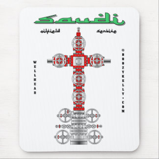 Saudi,Well Services,Oil Fields,Oil Wells,Oil Patch Mouse Pad