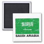 Saudia Arabia Vintage Flag 2 Inch Square Magnet