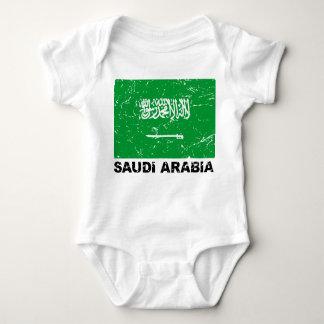 Saudia Arabia Vintage Flag Baby Bodysuit