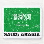 Saudia Arabia Vintage Flag Mousepad