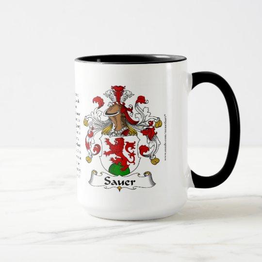 Sauer Family Coat of Arms Mug