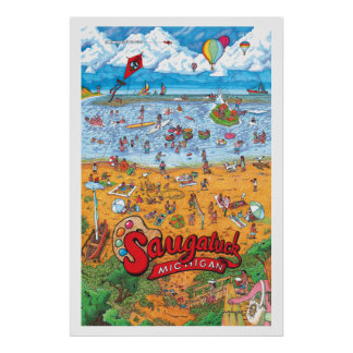 Saugatuck (Day) Large Poster