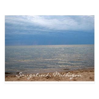 Saugatuck, Michigan Oval Beach Postcard