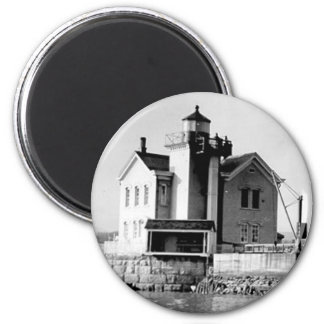 Saugerties Lighthouse 2 Inch Round Magnet