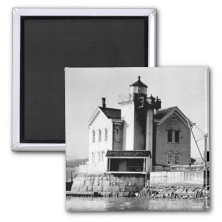 Saugerties Lighthouse 2 Inch Square Magnet
