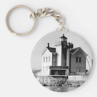 Saugerties Lighthouse Basic Round Button Keychain