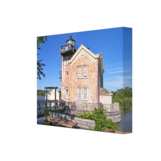 Saugerties Lighthouse, Hudson River New York Canvas Print