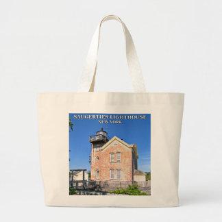 Saugerties Lighthouse, Hudson River New York Large Tote Bag