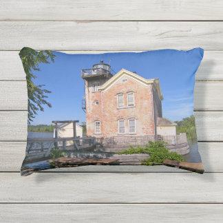 Saugerties Lighthouse, Hudson River New York Outdoor Pillow