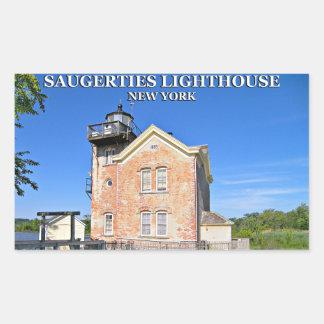 Saugerties Lighthouse, Hudson River New York Rectangular Sticker