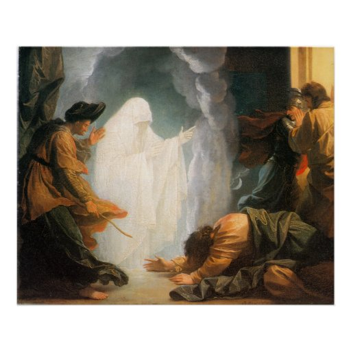 Saul and the Witch of Endor, by Benjamin West Poster