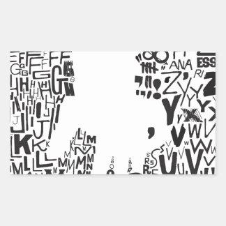 saul bass! vista_vv.jpg rectangular sticker
