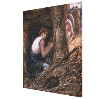 Saul Hiding among the Stuff, 1866 Canvas Print