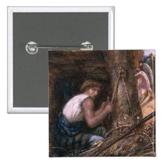 Saul Hiding among the Stuff, 1866 Pinback Button