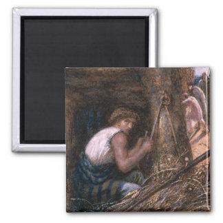 Saul que oculta entre la materia, 1866 imán cuadrado