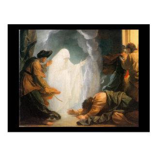 Saul y la bruja de Endor, por Benjamin del oeste Postales
