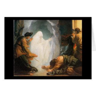 Saul y la bruja de Endor por Benjamin del oeste Tarjeton