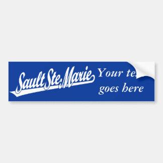 Sault Ste. Logotipo de la escritura de Marie en bl Pegatina Para Auto