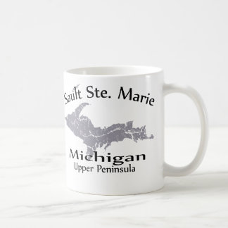 Sault Ste Marie Michigan Map Design Mug