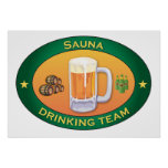 Sauna Drinking Team Poster