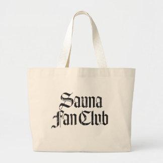 Sauna Fan Club Blk Jumbo Tote Bag