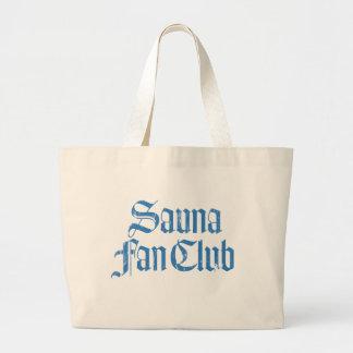 Sauna Fan Club Blue Jumbo Tote Bag