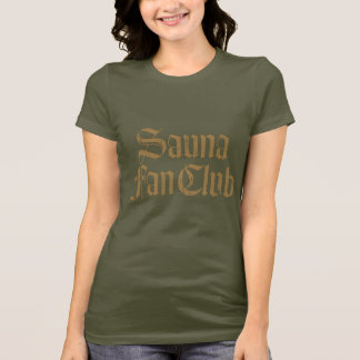 Sauna Fan Club Brown Women's Dark T-shirt