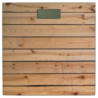 Sauna Pine Wood Bathroom Scale