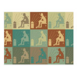 Sauna Pop Art Post Card