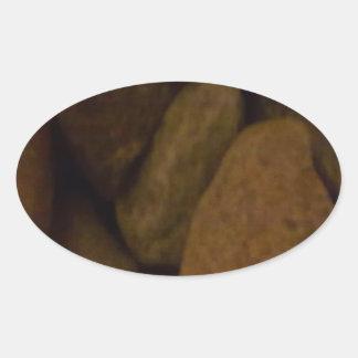 Sauna Stone Oval Sticker