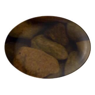 Sauna Stone Porcelain Serving Platter