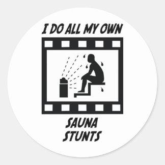 Sauna Stunts Classic Round Sticker