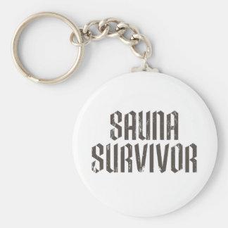 Sauna Survivor 01 Basic Round Button Keychain