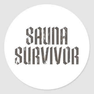 Sauna Survivor 01 Classic Round Sticker