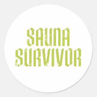 Sauna Survivor 03 Classic Round Sticker