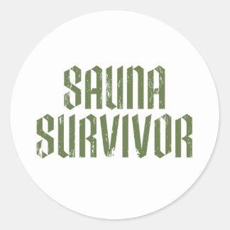 Sauna Survivor 05 Classic Round Sticker
