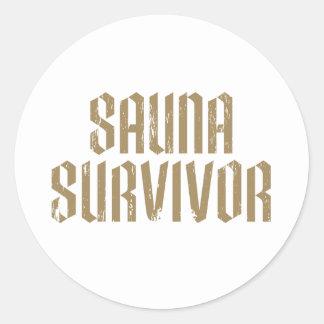 Sauna Survivor 07 Classic Round Sticker